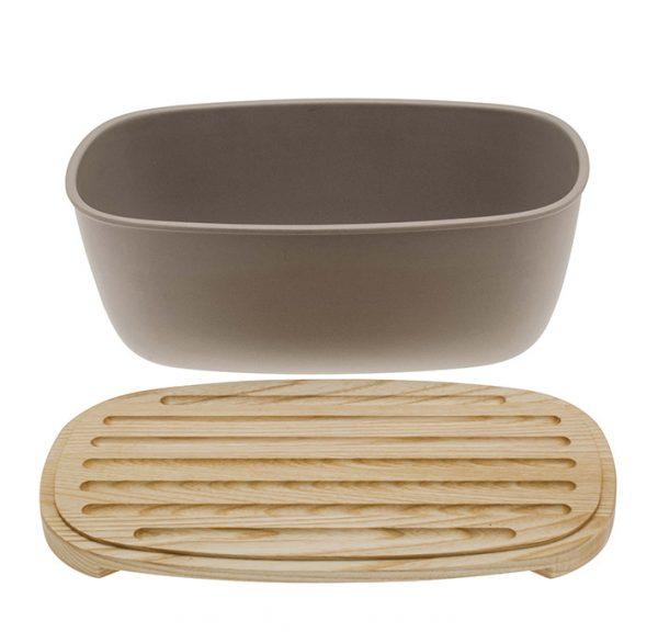 Bread box with cutting board by LegnoArt