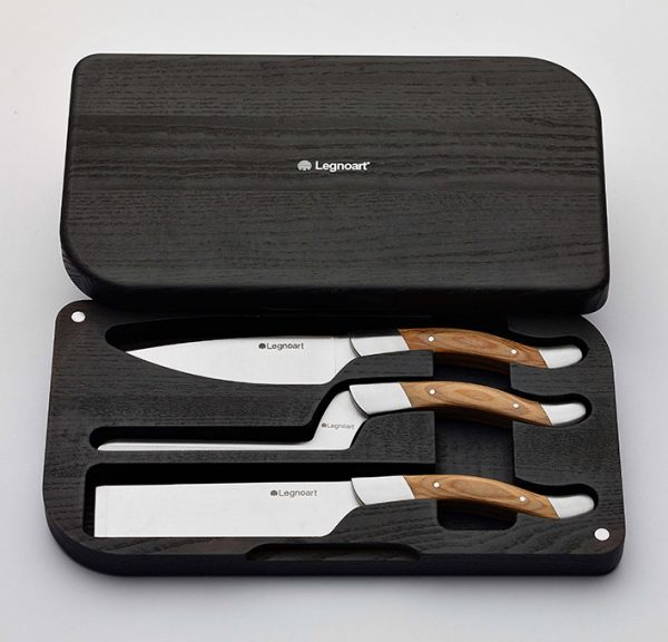 Cheese knife set by LegnoArt
