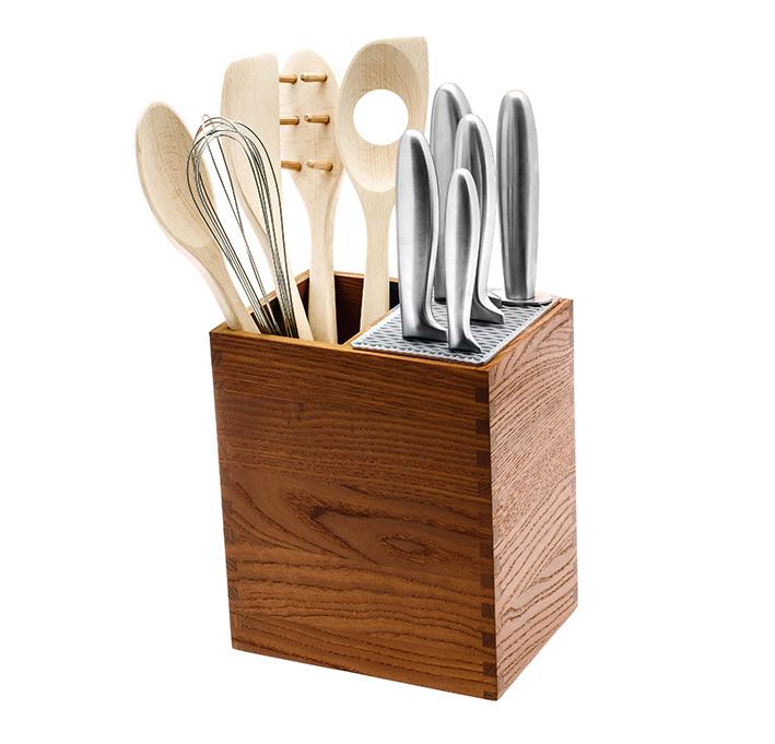 Knife block kitchen utensils holder by LegnoArt
