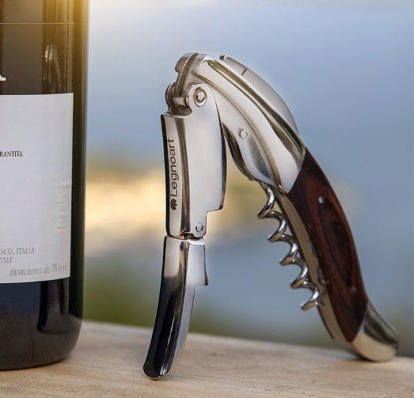 corkscrew wine bottle opener Legnoart