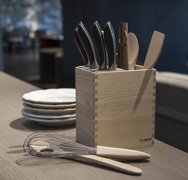 knife block kitchen utensils holder Legnoart