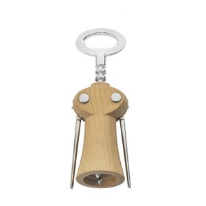 Winged corkscrew, wine bottle opener by Legnoart