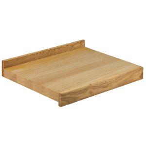 Piano di lavoro professionale per la cucina in legno di rovere.
